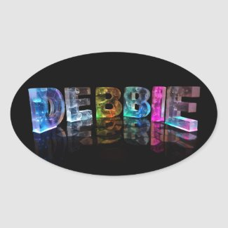 The Name Debbie in 3D Lights (Photograph) Stickers
