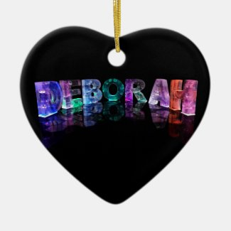 The Name Deborah in 3D Lights (Photograph) Christmas Tree Ornament