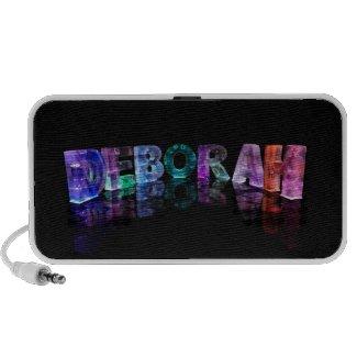 The Name Deborah in 3D Lights (Photograph) iPod Speaker