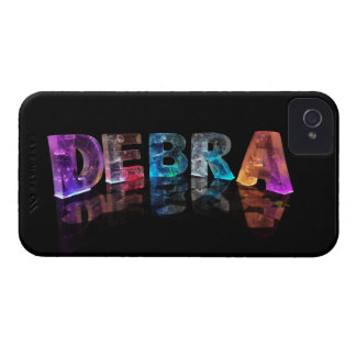 The Name Debra in 3D Lights (Photograph) Case-Mate iPhone 4 Cases