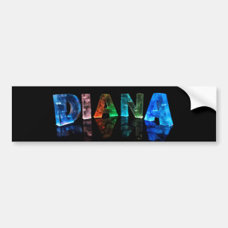 The Name Diana in 3D Lights (Photograph) Bumper Sticker