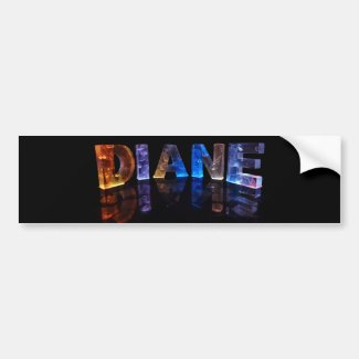 The Name Diane in 3D Lights (Photograph) Bumper Sticker