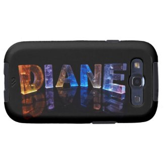 The Name Diane in 3D Lights (Photograph) Samsung Galaxy S3 Case