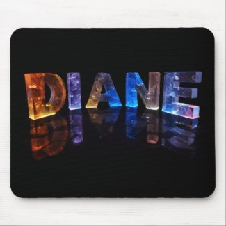 The Name Diane in 3D Lights (Photograph) Mouse Pad