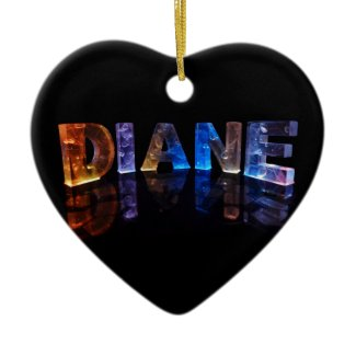The Name Diane in 3D Lights (Photograph) Christmas Ornaments