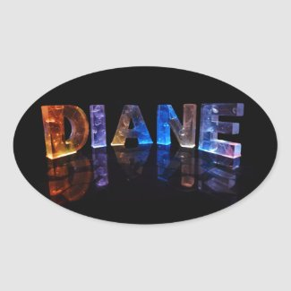 The Name Diane in 3D Lights (Photograph) Sticker