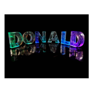 The Name Donald in 3D Lights (Photograph) Postcard