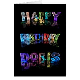 The Name Doris in 3D Lights (Photograph) Card