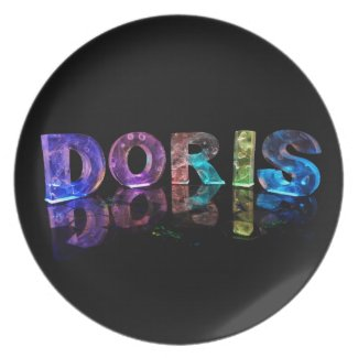 The Name Doris in 3D Lights (Photograph) Plates