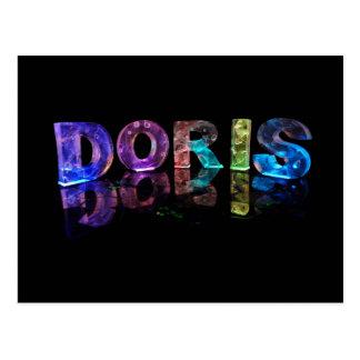 The Name Doris in 3D Lights Photograph Postcards