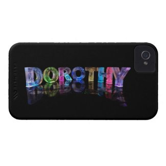 The Name Dorothy in 3D Lights (Photograph) iPhone 4 Cover