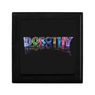 The Name Dorothy in 3D Lights (Photograph) Trinket Box
