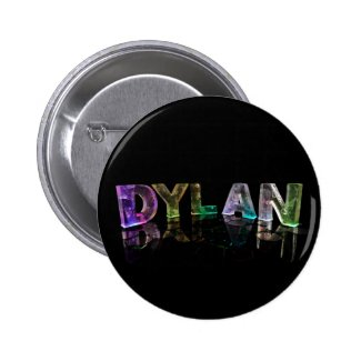 The Name Dylan in 3D Lights (Photograph) Button