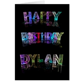 The Name Dylan in 3D Lights (Photograph) Greeting Card