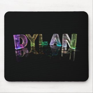 The Name Dylan in 3D Lights (Photograph) Mousepad