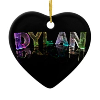 The Name Dylan in 3D Lights (Photograph) Ornaments