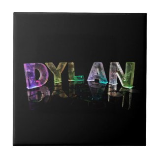 The Name Dylan in 3D Lights (Photograph) Ceramic Tile
