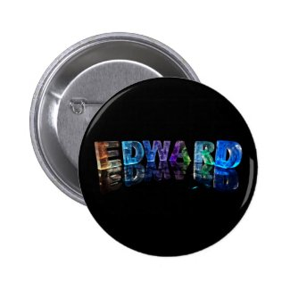 The Name Edward in 3D Lights (Photograph) Buttons