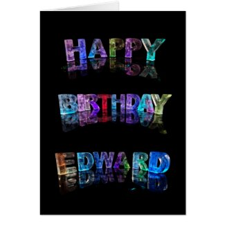 The Name Edward in 3D Lights (Photograph) Card