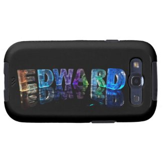 The Name Edward in 3D Lights (Photograph) Samsung Galaxy S3 Cases