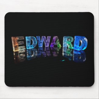 The Name Edward in 3D Lights (Photograph) Mousepads