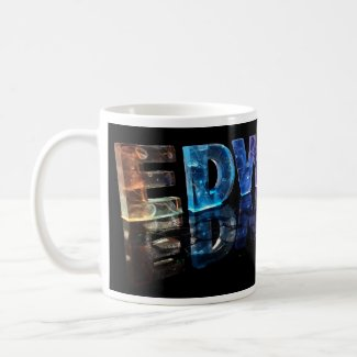 The Name Edward in 3D Lights (Photograph) Coffee Mug