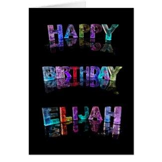The Name Elijah in 3D Lights (Photograph) Cards