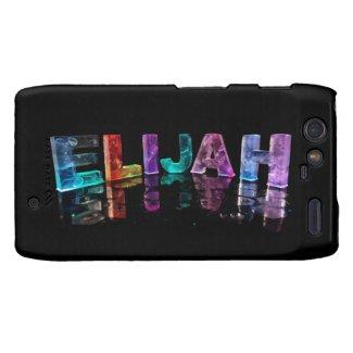 The Name Elijah in 3D Lights (Photograph) Motorola Droid RAZR Cases