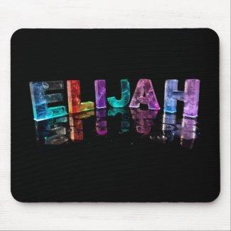 The Name Elijah in 3D Lights (Photograph) Mouse Mat