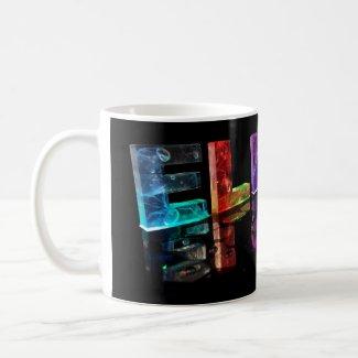 The Name Elijah in 3D Lights (Photograph) Mug