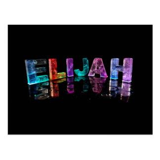 The Name Elijah in 3D Lights (Photograph) Postcard