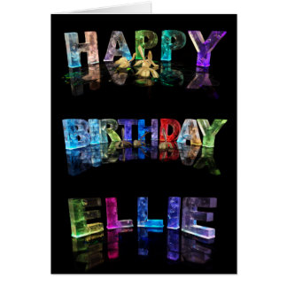The Name Ellie in 3D Lights (Photograph) Card