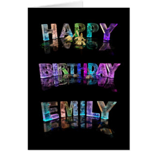 The Name Emily in 3D Lights (Photograph) Card