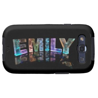 The Name Emily in 3D Lights (Photograph) Galaxy S3 Covers