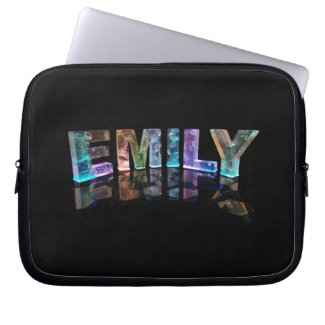 The Name Emily in 3D Lights (Photograph) Laptop Computer Sleeves