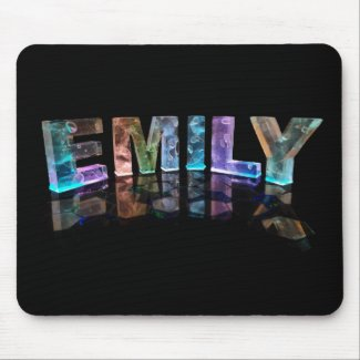 The Name Emily in 3D Lights (Photograph) Mousepads