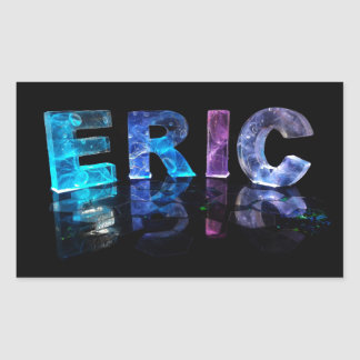 The Name Eric in 3D Lights (Photograph) Rectangular Sticker