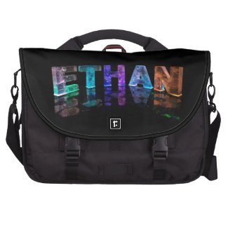 The Name Ethan in 3D Lights (Photograph) Bags For Laptop