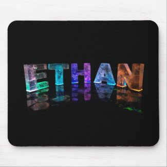 The Name Ethan in 3D Lights (Photograph) Mouse Mats