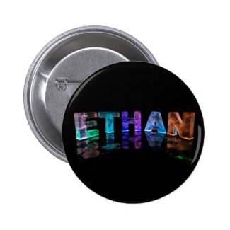The Name Ethan in 3D Lights (Photograph) Pins