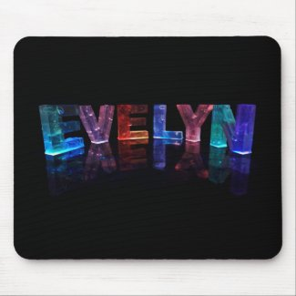 The Name Evelyn in 3D Lights (Photograph) Mousemats