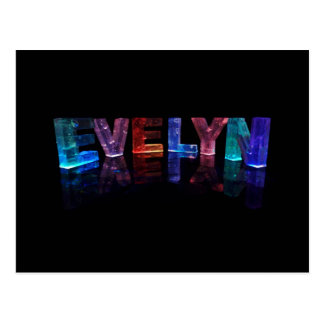 The Name Evelyn in 3D Lights (Photograph) Postcard