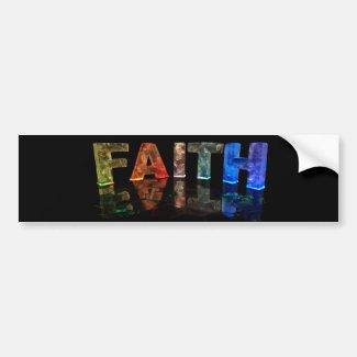 The Name Faith in 3D Lights (Photograph) Bumper Sticker
