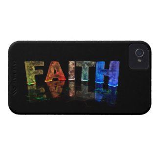 The Name Faith in 3D Lights (Photograph) Case-Mate iPhone 4 Case