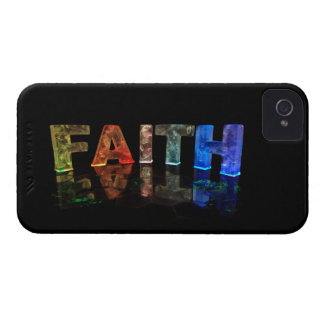 The Name Faith in 3D Lights (Photograph) iPhone 4 Case