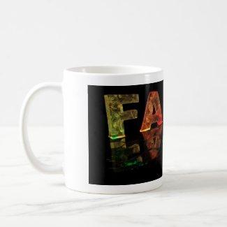 The Name Faith in 3D Lights (Photograph) Mug