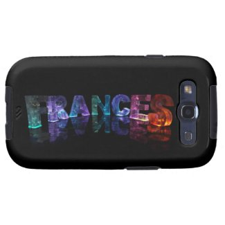 The Name Frances in 3D Lights (Photograph) Galaxy SIII Cases
