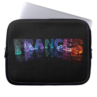 The Name Frances in 3D Lights (Photograph) Computer Sleeves