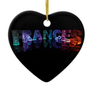 The Name Frances in 3D Lights (Photograph) Christmas Tree Ornament