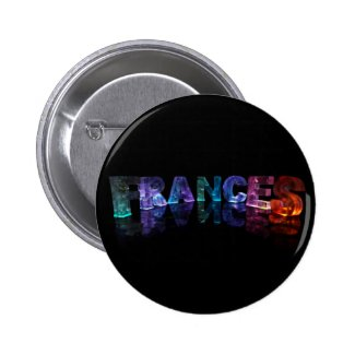 The Name Frances in 3D Lights (Photograph) Pin